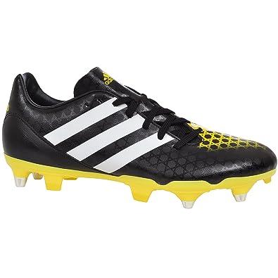 buy online 4ae41 af44a adidas Incurza TRX SG Bottes de Rugby - Multicolore - Noir, Jaune, 40 EU