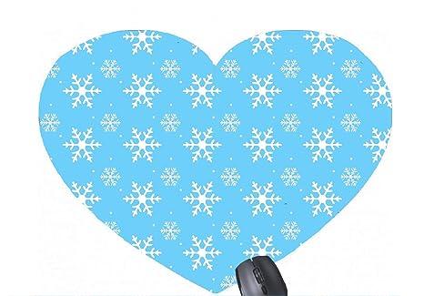 Plantillas de Patrones de Copos de Nieve para Imprimir en Forma de corazón Alfombrilla de ratón