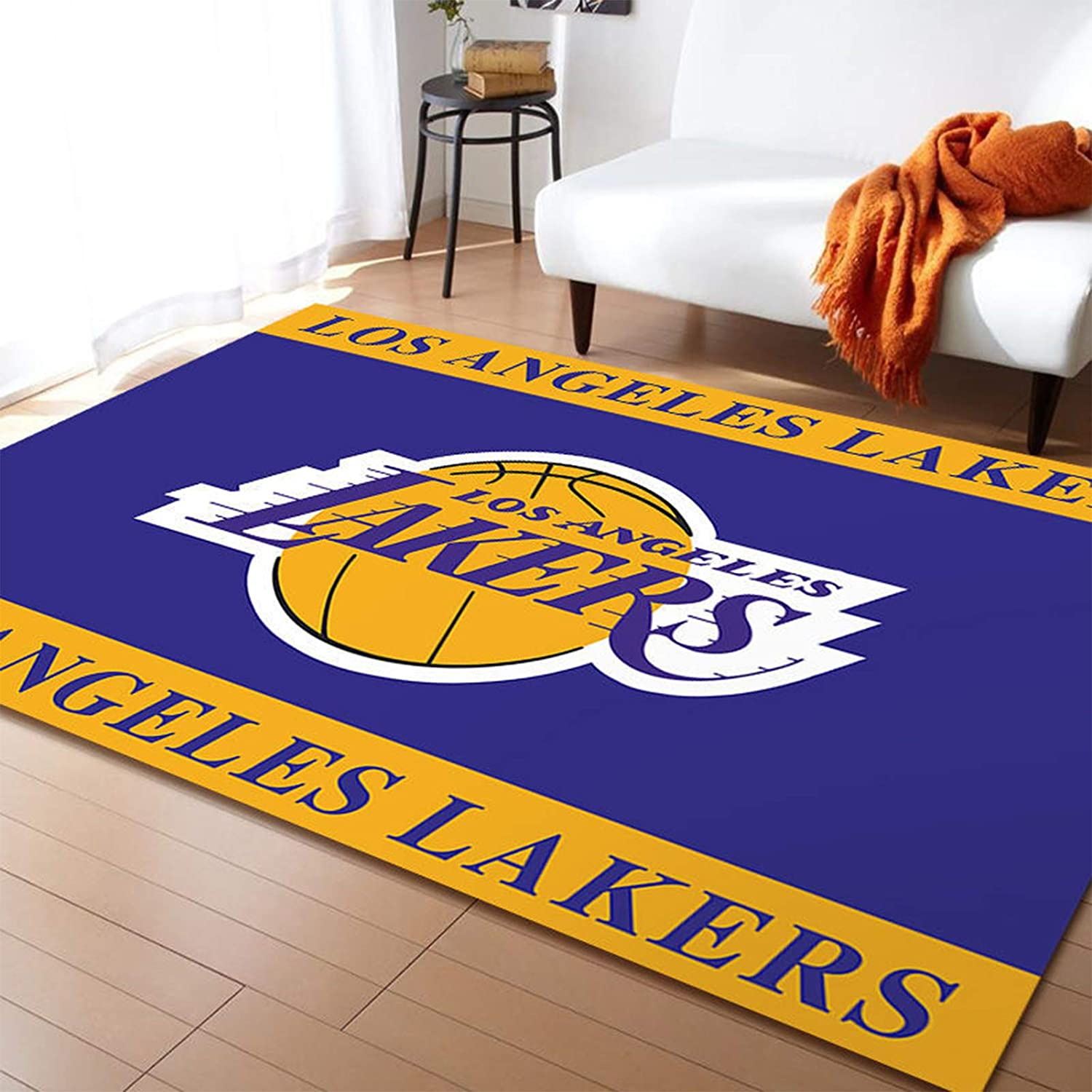 Kids Playroom Or Classroom Rug Door Mat Home Decor 14090 Fdghsx Laker Rug Basketball Court Sports Theme Area Rug For Teens Bedroom Rugs Home Kitchen Emosens Fr