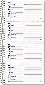 200 Sets//Book Two-Part Carbonless Petty Cash Receipt Book 5 1//2 x 11
