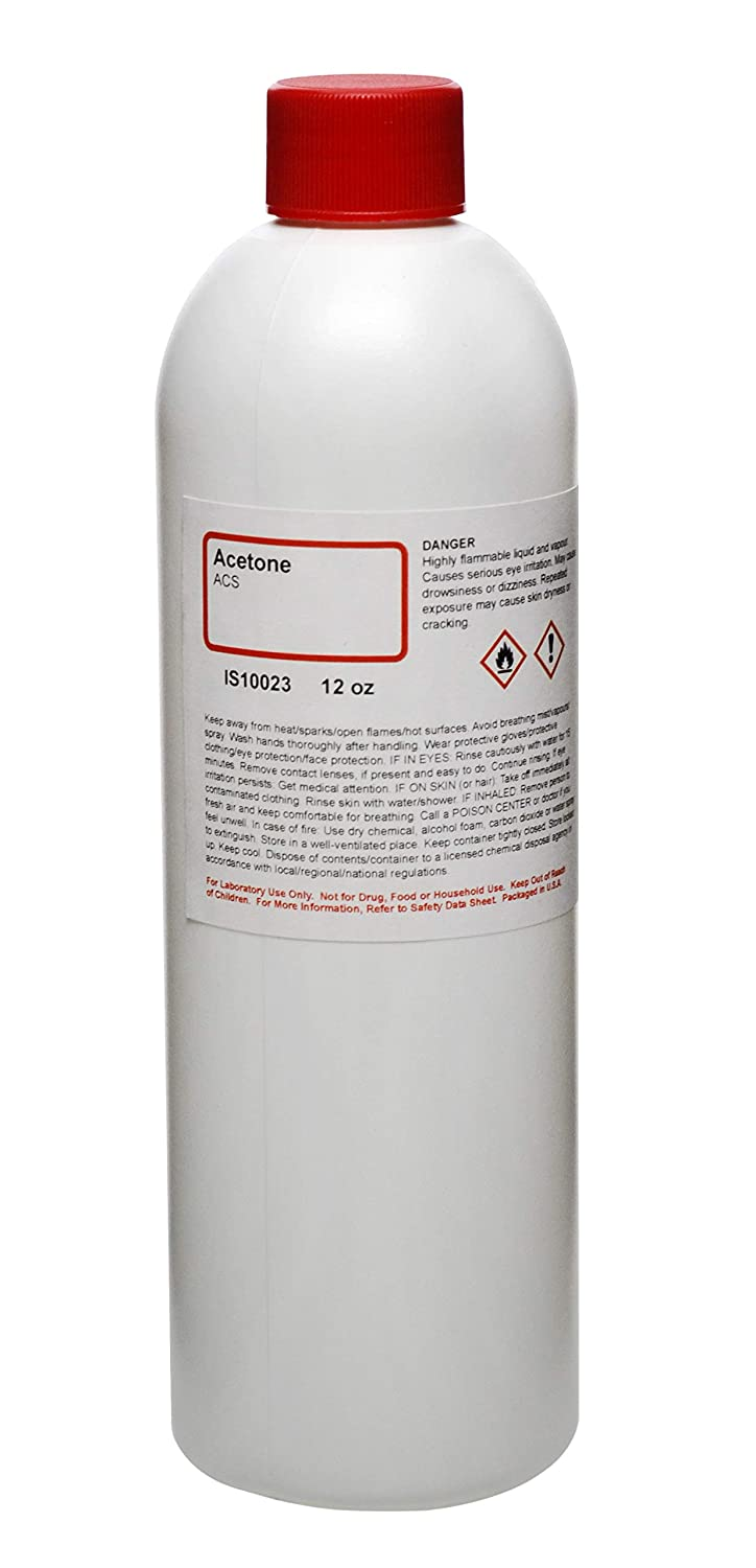 Acetone (Anhydrous) - Premium ACS Grade, 12oz - The Curated Chemical Collection