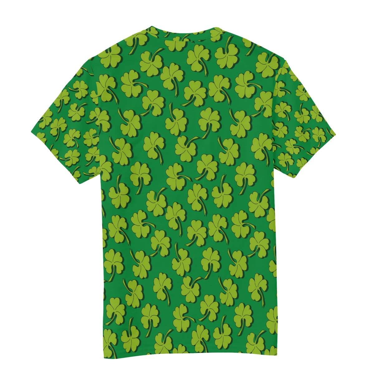Green Clover Ornament Leaves St Patricks Day Mens T Shirts Graphic Funny Body Print Short T-Shirt Unisex Pullover Blouse