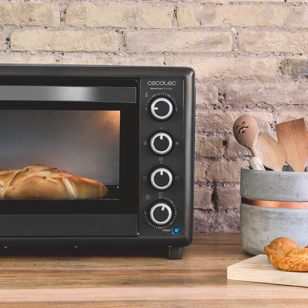 Cecotec Bake&Toast 750 Horno Eléctrico Multifunción de sobremesa, 2000 W, 12 Modos de cocinar, Temperatura hasta 230ºC y Tiempo hasta 60 minutos, ...