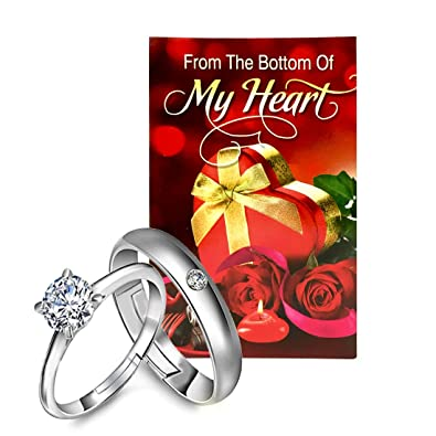 Peora Valentine S Day Gift Hamper Of Couple Ring With Greeting Card