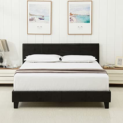 Dehors Sun Queen Size Platform Bed Metal Square
