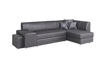 Verani Moderno Negro Grande Esquina sofá Cama con ...