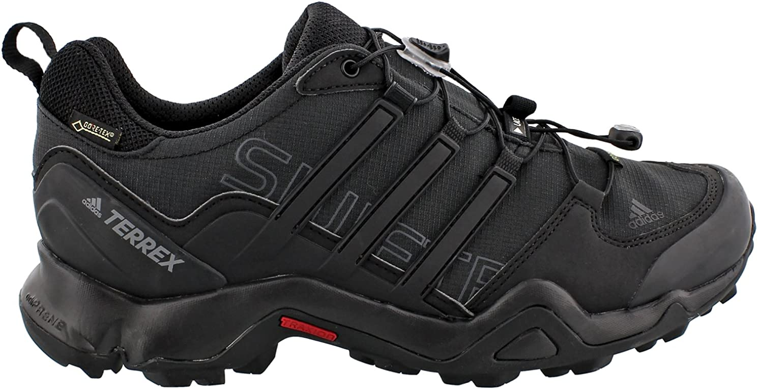 adidas outdoor Men's Terrex Swift R GTX Black Black Dark Grey Hiking Shoe
