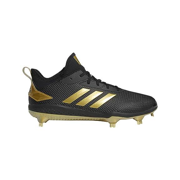 uk availability ec0ee d5af7 adidas Men s Adizero Afterburner V Baseball Shoe Black Gold Metallic, 13.5 M  US