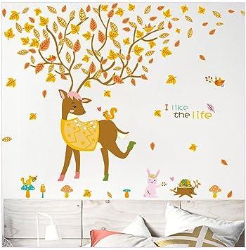 Maison De Vacancesdécorations De Fête Les Peintures Murales Le Cerf