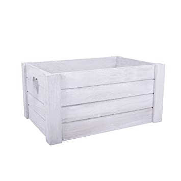 Basic House Ltd Heart Shaped Handle Wooden Apple Crates Display Plants Fruit Storage Gift Hampes Small