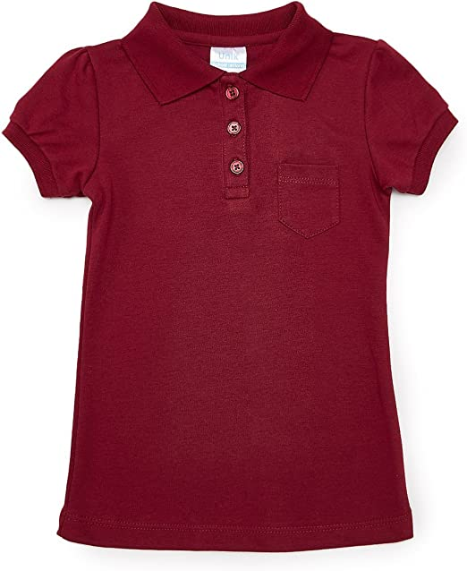unik Girl Uniform Polo Shirt with Pocket Slim Fit White Navy Sky Blue Red Burgundy