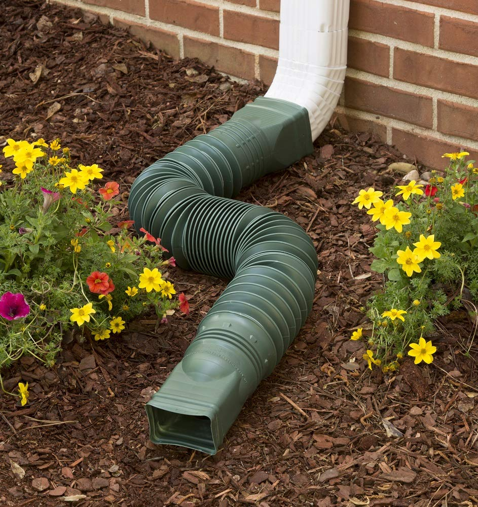 Flex-Drain 85011 Downspout Extension, Green AMERIMAX HOME PRODUCTS