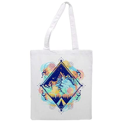 Womens tote bag modern mountain - Sports Gym Lunch Yoga Shopping Travel Bag Washable - 1.47X0.98 Ft