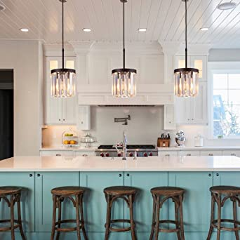 Kitchen Island Lighting Elegant Light By Luxall Crystal Pendant ...