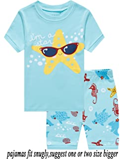 0e23c0ae59 Babyroom Girls Short Pajamas Toddler Kids Pjs 100% Cotton Sleepwear Summer  Clothes Shirts