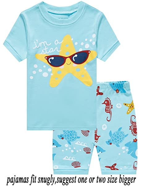 Babyroom Girls Short Pajamas Toddler Kids Pjs 100% Cotton Sleepwear Summer  Clothes Shirts 2T 8d50c5ec5
