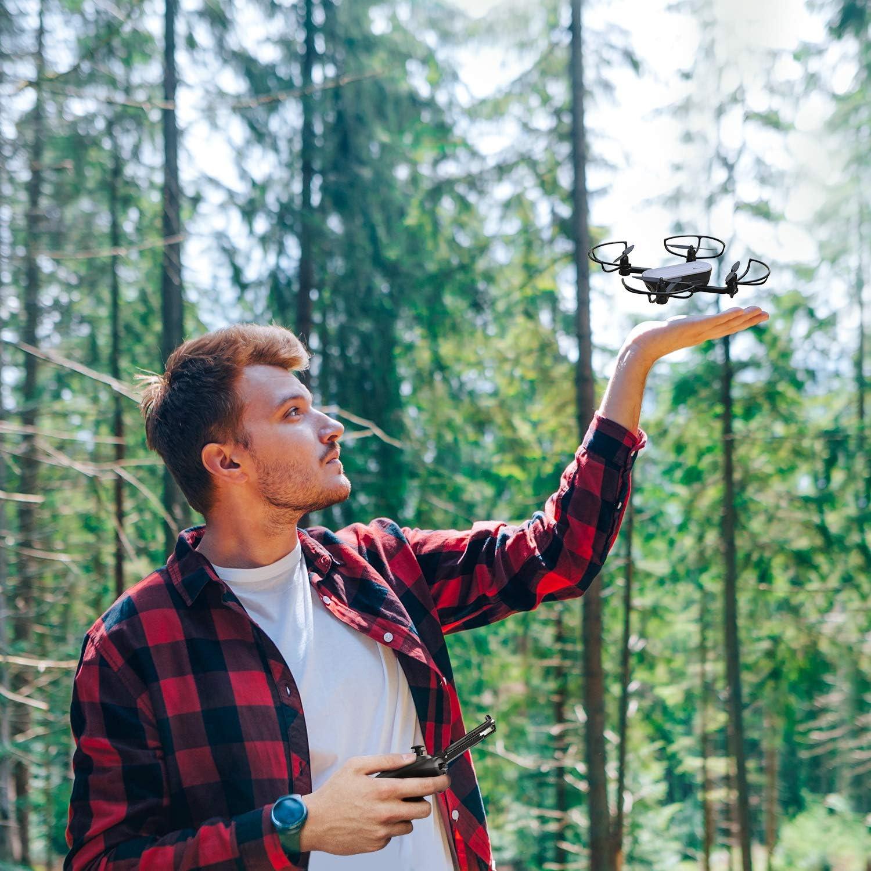Potensic Drone Pliable Elfin avec Cam/éra 2K WiFi FPV Positionnement de Flux Optique Capteur de Gravit/é Une Sac de Transport Mode sans T/ête Vol de Trajectoire Deux Batteries Contr/ôle Gestuel
