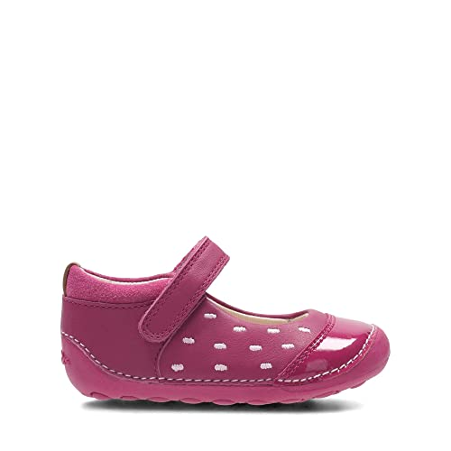 46c3946df3596 Clarks Little Lou Leather Shoes in Pink: Amazon.co.uk: Shoes & Bags