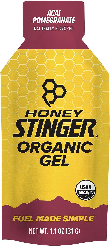 Honey Stinger Organic Energy Gel, Acai Pomegranate, Sports Nutrition, 1.1 Ounce (Pack of 24)