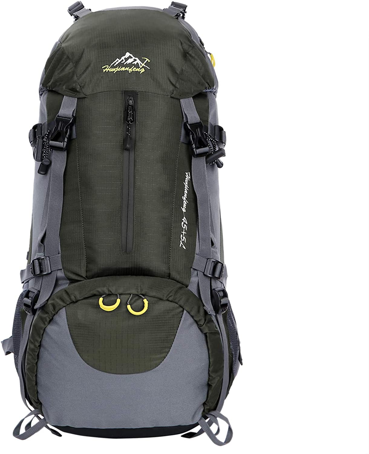 WoneNice 50L(45+5) Waterproof Hiking Backpack - Outdoor Sport Daypack with Rain Cover