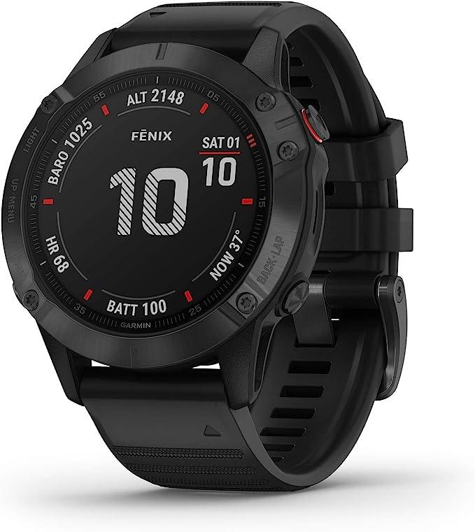 Garmin fēnix 6 PRO - Reloj GPS multideporte con mapas, música, frecuencia cardíaca y sensores, Negro con correa negra: Amazon.es: Deportes y aire libre