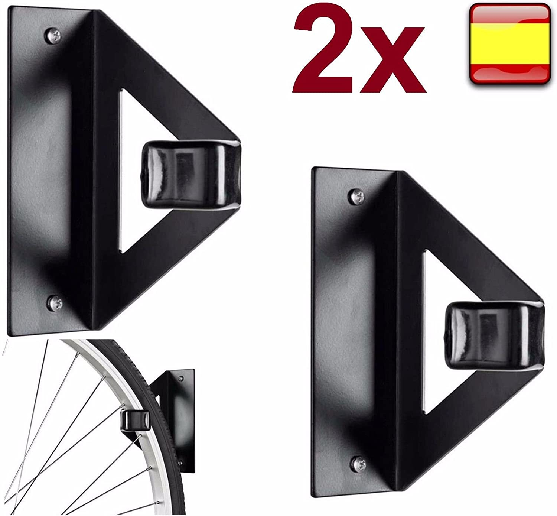 2X gancho soporte para colgar bicicleta pared techo horizontal ...