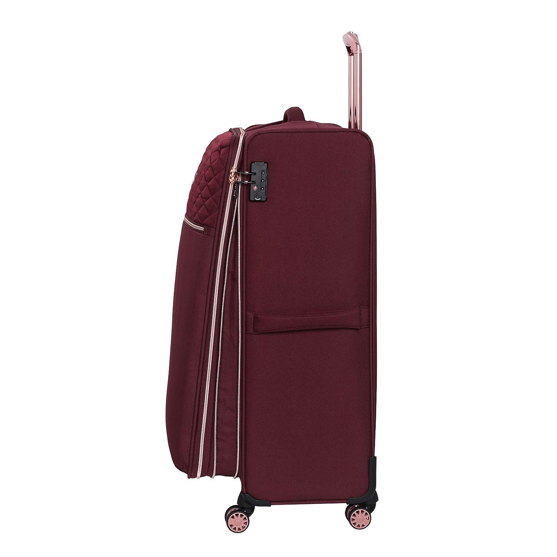 58 cm Noir 47 liters it luggage Divinity 8 Wheel Lightweight Semi Expander Suitcase Cabin with TSA Lock Valise Black