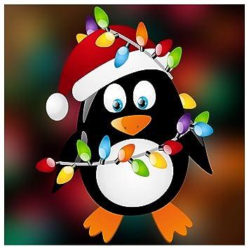 Stickers4 Christmas Penguin Double-Sided Window Cling - Seasonal ...
