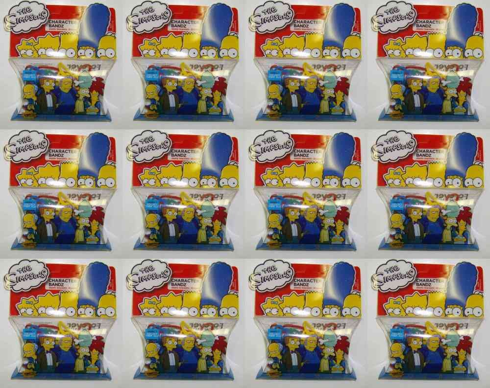 12 Pack Lot of Simpsons Villains Series 7 Logo Silly Bandz 240 Bands