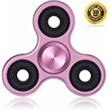 Vivahouse Fidget Spinner | Hand Spinner Stress and Anxiety Relief Toy | ADHD, Autism, ADD | Promotes Calming Clarity and Focus | Quiet, Spinning Aluminum Alloy Gadget | Pocket Size (Pink Petunia)