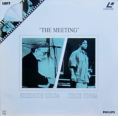 """LASER DISC!!!! """"The Meeting"""" F.Gulda - Chick Corea"""