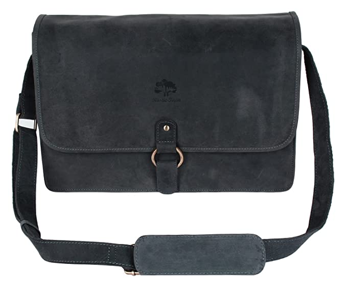 Leather Vintage Rustic Crossbody Messenger Courier Satchel Bag Gift Men  Women ~ Business Work Briefcase Carry 8df4430679e22