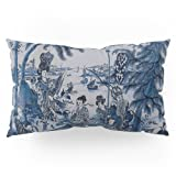 Society6 17th Century Delftware Chinoiserie Pillow