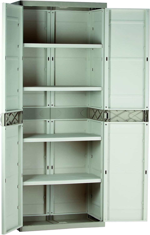 Plastiken M282966 - Armario de Resina con 4 estantes plastek 176 x 70 x 44 cm: Amazon.es: Bricolaje y herramientas