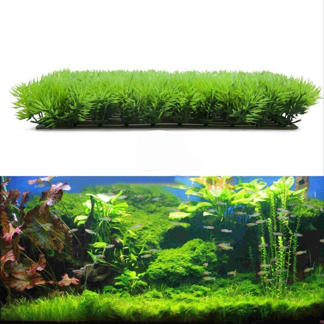 25*25*5cm Ornement Pelouse artificielle en plastique pour Aquarium Fish Tank décor Luwu-Store 6806366