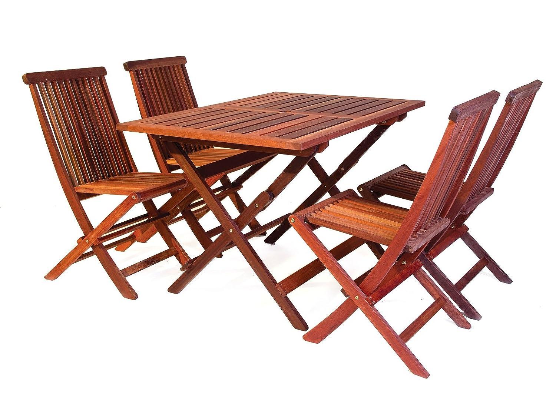 bistro gartenm bel set tisch 120 x 80 cm 4 st hle aus exklusivem mahagoni hartholz. Black Bedroom Furniture Sets. Home Design Ideas