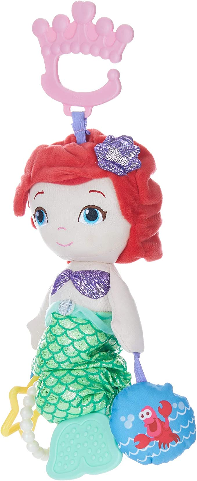 Disney On-The-Go Musical Toy Princess Plush Stick Rattle
