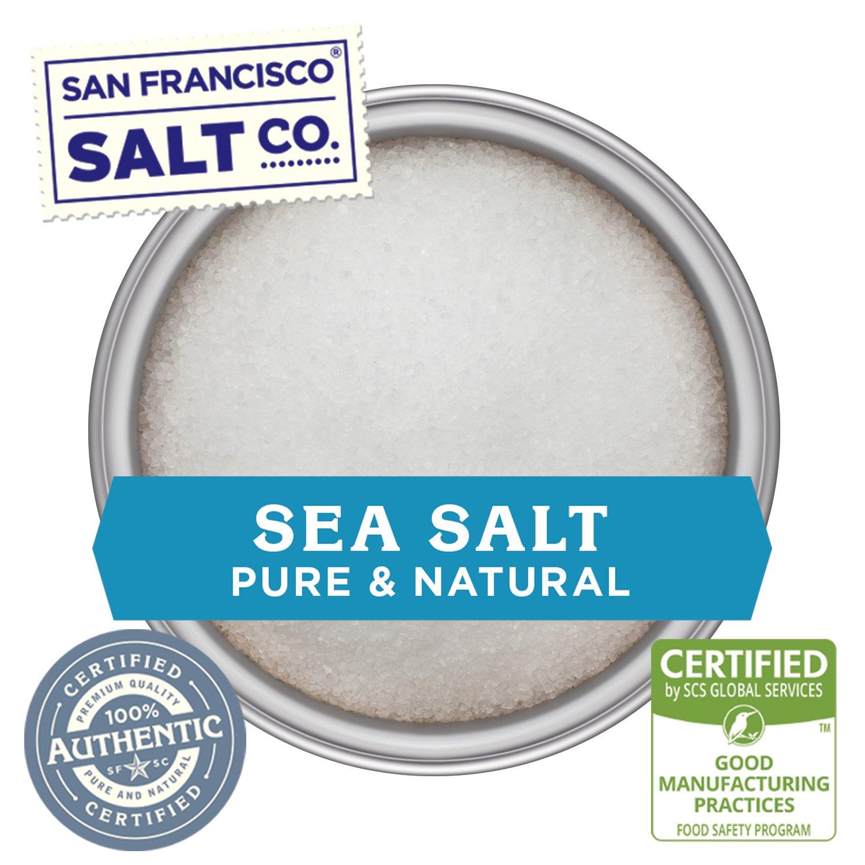 Stackable Salt Shakers – HOME CHEF HERO GIFT SET – Sherpa Pink Himalayan Salt, French Grey Sea Salt, Hickory Smoked Sea Salt, Black Truffle Sea Salt, Pacific Sea Salt, Lemon Rosemary Sea Salt by San Francisco Salt Company (Image #3)
