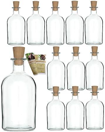 12 Leere Glasflaschen Apotheker 250 Ml Incl Korken Zum Selbst