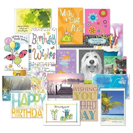 Mega Birthday Cards Value Pack Set Of 40 20 Designs