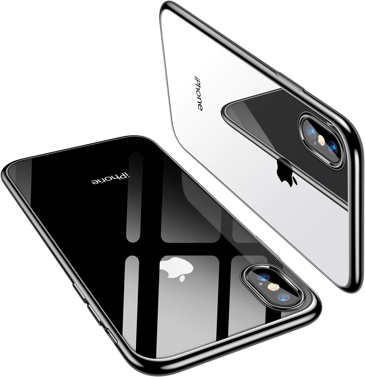 TORRAS iPhone X Case 2017 (ONLY), Ultra Thin Slim Fit Soft Silicone TPU Cover Case Compatible with iPhone X 2017, Black