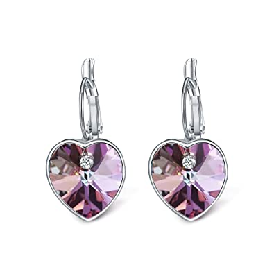 c4ddfbc7357d T400 Jewelers  quot Love Heart quot  corazón colgante pendiente hecho con  cristales de Swarovski