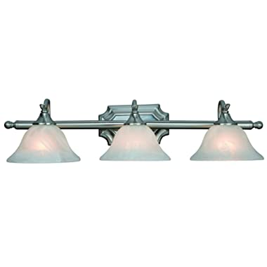 Hardware House H10-4777 Dover 3-Light Bath or Wall Fixture, Satin Nickel
