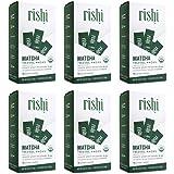 Rishi Matcha Travel Packs, Organic Green Tea Powder, 12 Packets (Pack of 6)