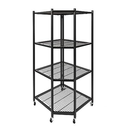 Origami R5c Black Corner Shelf Rack Black Amazon