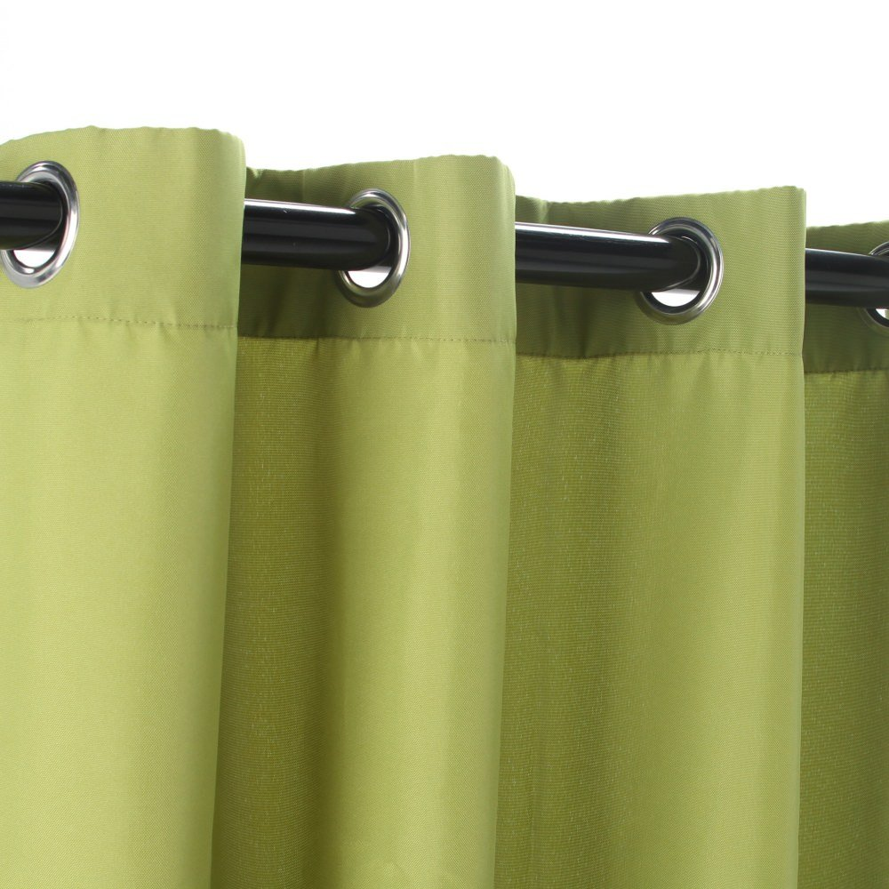 Commonwealth Green Polyester Grommeted Outdoor Curtain (50 x 84)