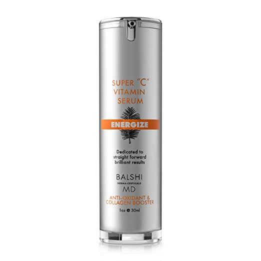 ENERGIZE Vitamin C Serum for Face & Eyes - Clinical Strength Antioxidant Collagen Booster with Vitamin E - Dermatologist Developed Skin Care For Anti-aging, Fades Dark Spots and Repairs Sun Damage 1oz