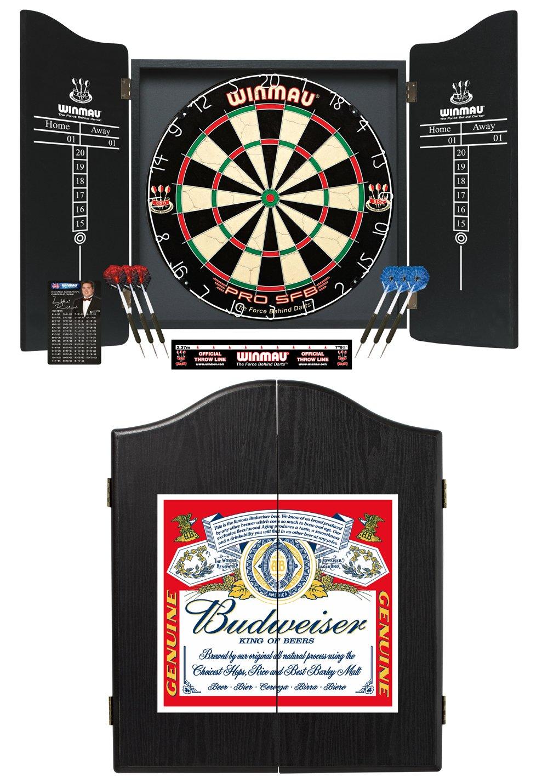 Deluxe Winmau Budweiser Complete Dart Set with Pro SFB Premium Dartboard
