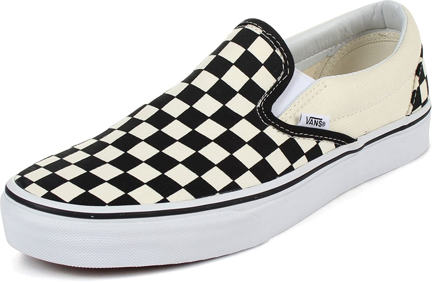 Vans - Unisex Adult Classic Slip-On Shoes in Black/White Checkered, 14 D(M)  US Mens, Black/White Checkered