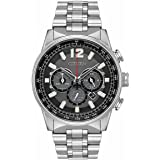 Citizen CA4370-52E Mens Eco-Drive Watch Nighthawk Stainless Steel band